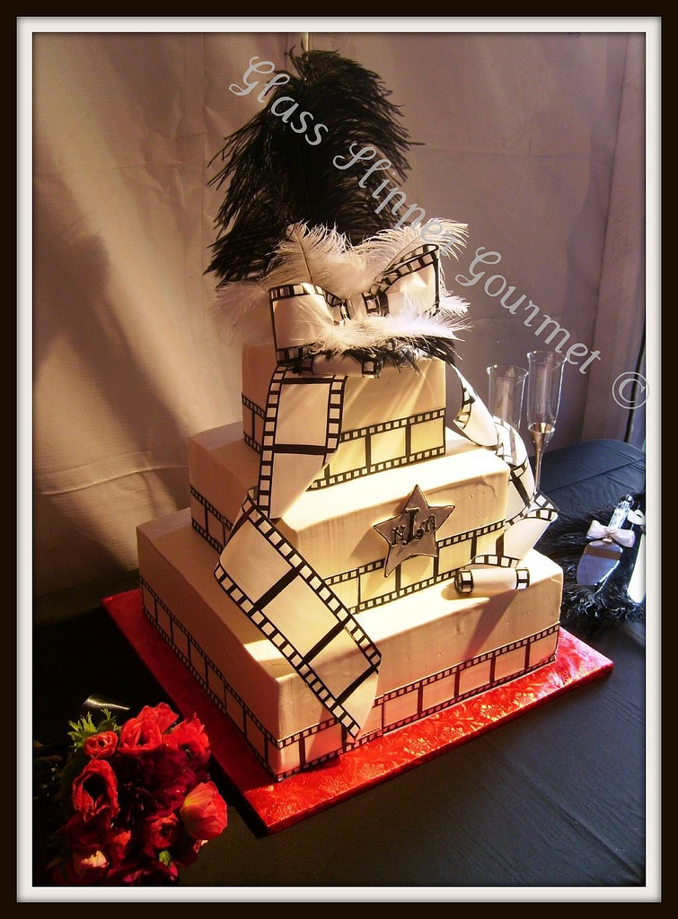 Beauty, Cakes, white, black, cake, Feathers, Square Wedding Cakes, Square, And, Stars, Film, Glass slipper gourmet, Movies
