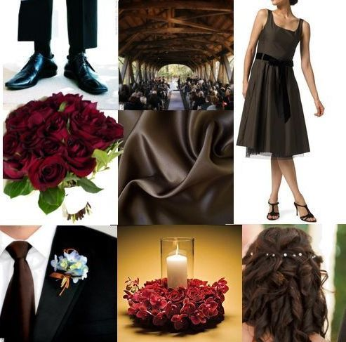 red, brown, black, Inspiration board