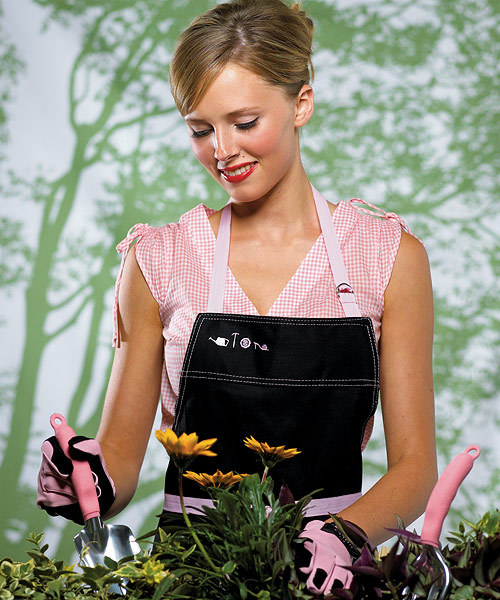 Flowers & Decor, Fashion, pink, Garden, Set, Weddingstar inc, Glove, Apron