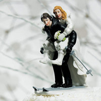 Cakes, cake, Winter, Topper, Sport, Weddingstar inc, Skiing