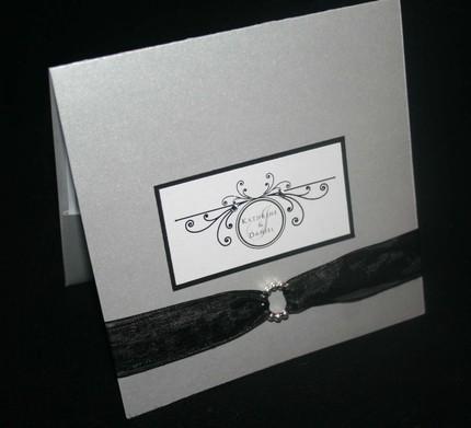 Stationery, silver, invitation, Invitations