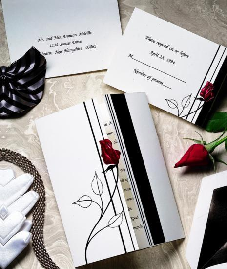 Stationery, Invitations, Elegant, Simple, The american wedding