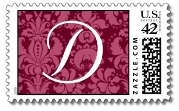 Stationery, Invitations, Monogram, Custom, You, Thank, Stamps, Postage, The wedding shoppe