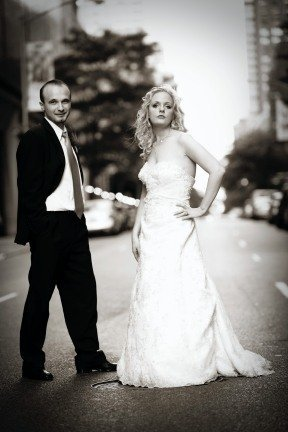 Destinations, North America, Bride and groom, Black and white, New york