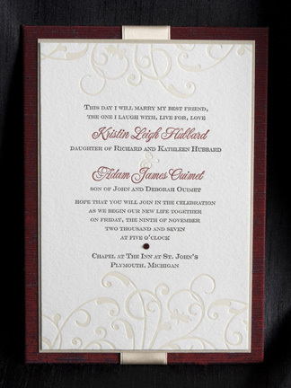 Stationery, burgundy, invitation, Invitations, Wine, Swirl, Rhinestone, Flair necessities