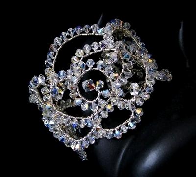 Jewelry, Bracelets, Bridal, Crystal, Bracelet, Swarovski, Cuff, Bijoux design mara haute couture bridal