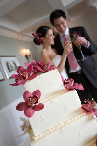 Cakes, pink, cake, Orchids