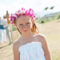 Destinations, orange, blue, Destination Weddings, Hawaii, Beach, Wedding, Flower girl, Colorful, Destination wedding, Hawaiian wedding, Kuaui
