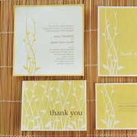 Stationery, yellow, Garden Wedding Invitations, Invitations