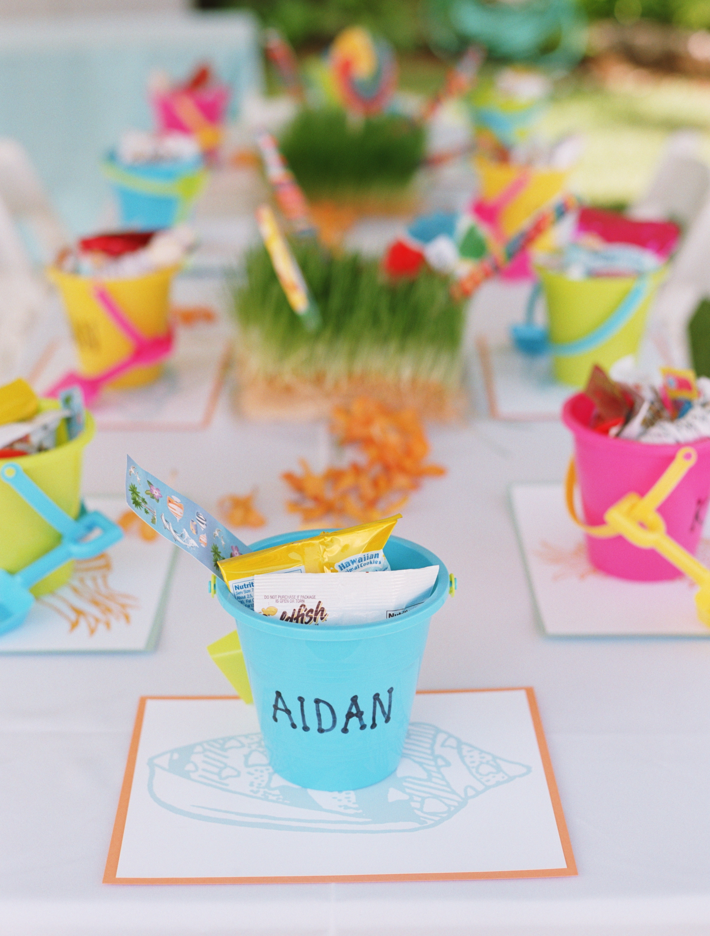 Reception, Flowers & Decor, Decor, Favors & Gifts, Destinations, orange, blue, Favors, Destination Weddings, Hawaii, Beach, Beach Wedding Flowers & Decor, Wedding, Colorful, Destination wedding, Hawaiian wedding, Kuaui