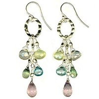 Jewelry, Bridesmaids, Bridesmaids Dresses, Fashion, yellow, pink, blue, green, Earrings, Bride, Glamorosi, Sterling silver, Pastel, Semiprecious stones