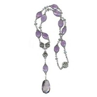 Jewelry, purple, Necklaces, Bride, Necklace, Lilac, Amethyst, Violet, Labradorite, Glamorosi, Seniprecious stones, Long necklace