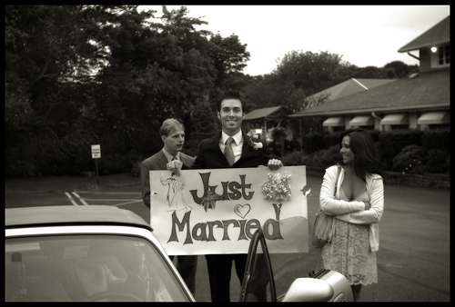Groom, Outdoors, Bw, Sign, Funny, Humor, Handmade, Poster, Kristina gibb photography, Longisland