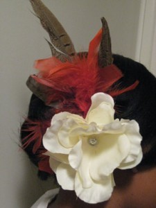 Beauty, DIY, Flowers & Decor, Feathers, Flower, Hairpiece, Feather