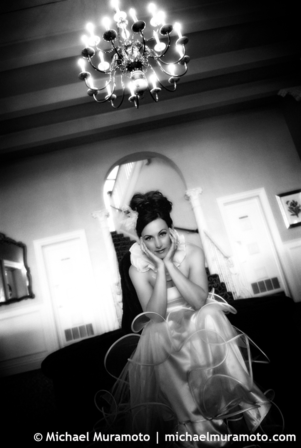 Bride, Black and white, Bw, Sausalito, Michael muramoto photography