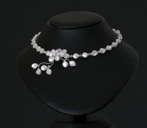 Jewelry, Bridal, Pearls, Swarovski, Choker, Bijoux design mara haute couture bridal