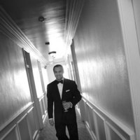 Groom, Walking, Black and white, Bw, Sausalito, Backlight, Hallway, Michael muramoto photography