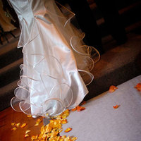 Flowers & Decor, Wedding Dresses, Fashion, yellow, orange, dress, Bride Bouquets, Bride, Flowers, Detail, Church, Sausalito, Michael muramoto photography, Flower Wedding Dresses