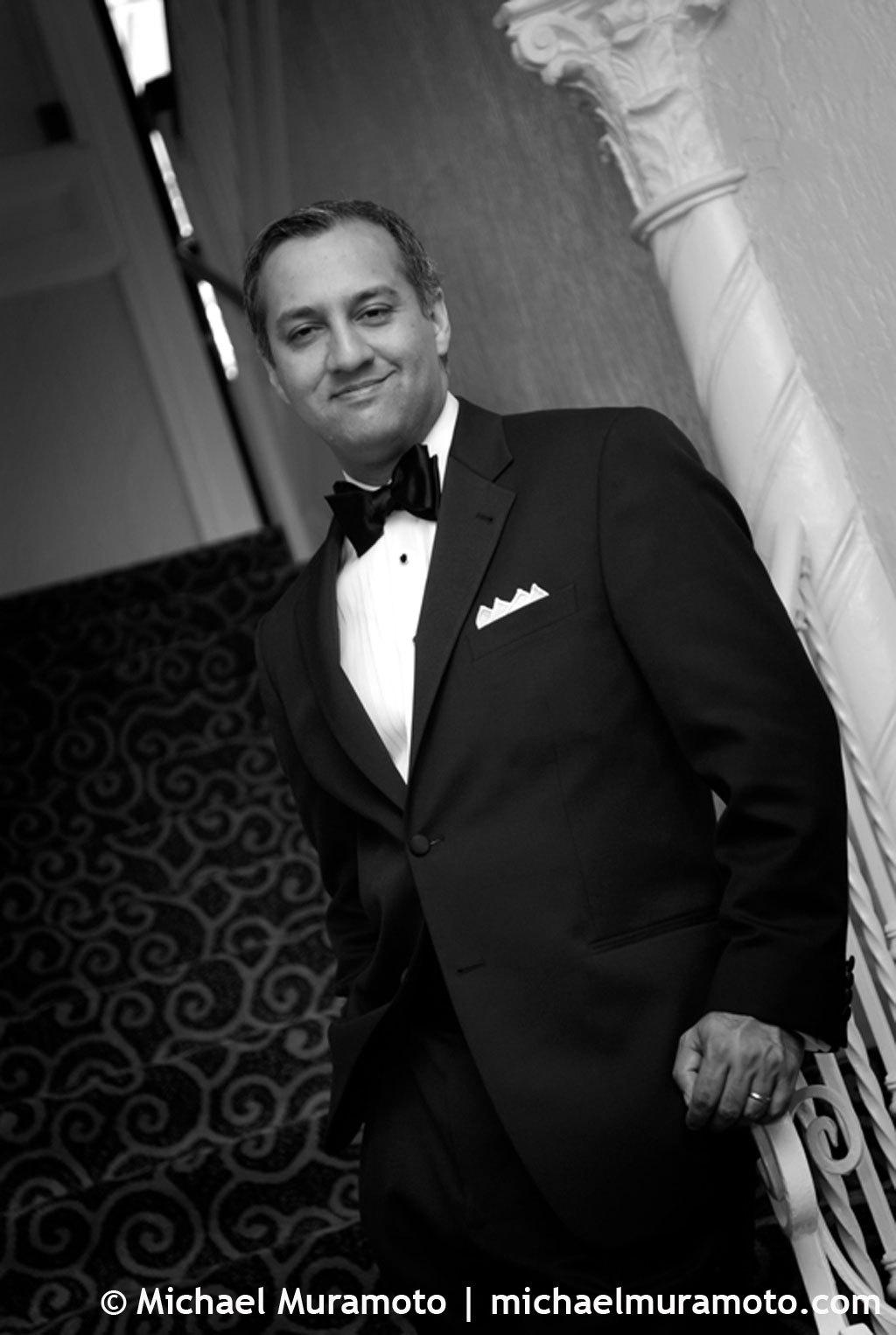 Groom, Hotel, Black and white, Lobby, Bw, Sausalito, Michael muramoto photography