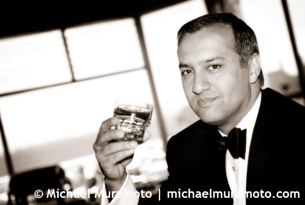 Groom, Black and white, Drink, Bar, Bw, Sausalito, Michael muramoto photography
