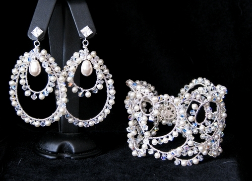 Jewelry, Bracelets, Earrings, Bridal, Bracelet, Cuff, Bijoux design mara haute couture bridal