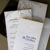 Stationery, blue, Invitations, Ocean, Letterpress, Sweet letter press