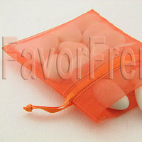 Favors & Gifts, orange, favor, Bag, Organza