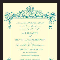 Stationery, Vintage Wedding Invitations, Invitations, Wedding, Invitations by ajalon, Baroque