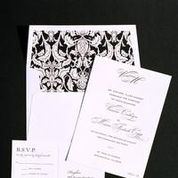 Stationery, Invitations, Wedding, Traditional, Letterpress, Formal, Invitations by ajalon
