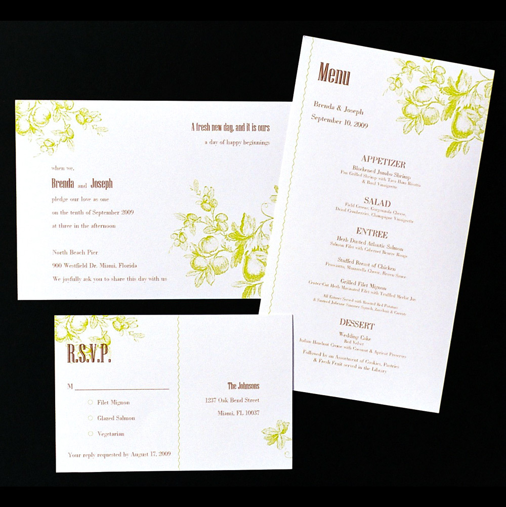 Stationery, Invitations, Wedding, Fruit, Invitations by ajalon, Fruit on the tree