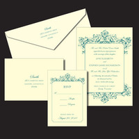 Wedding, Letterpress, Invitations by ajalon, Baroque