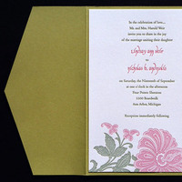 Flowers & Decor, Stationery, invitation, Invitations, Flower, Wedding, Letterpress, Invitations by ajalon, Blume