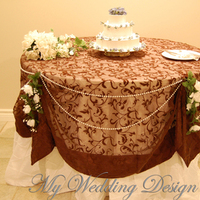 Flowers & Decor, Decor, Cakes, brown, cake, Flowers, Table, Pearls, My wedding design