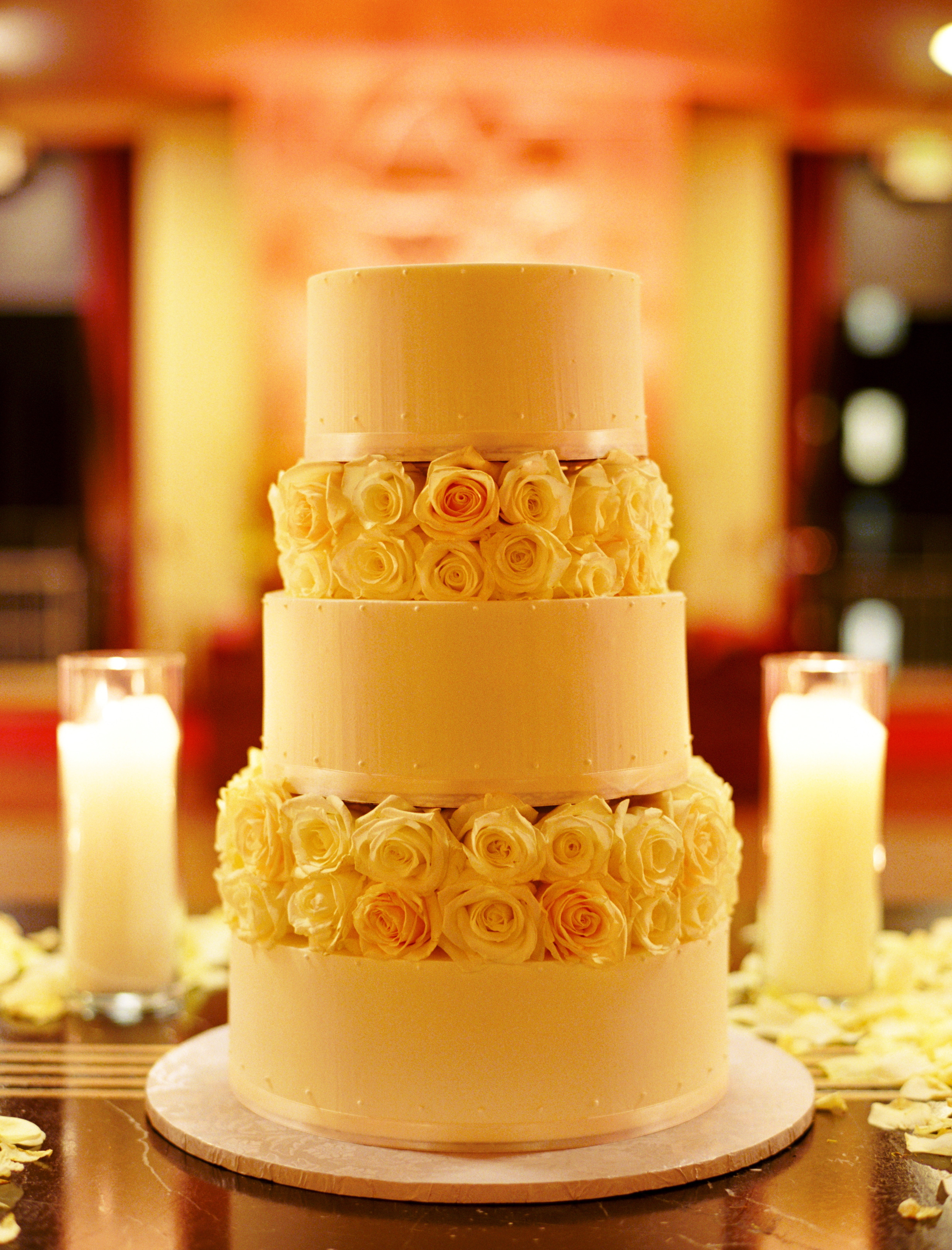 Reception, Flowers & Decor, Cakes, cake, City, Roses, Wedding, Romantic, San, Francisco