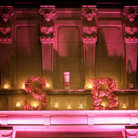 pink, Lighting, Candles, Design, San francisco, Fireplace, Michael muramoto photography, Julia morgan, Merchants exchange