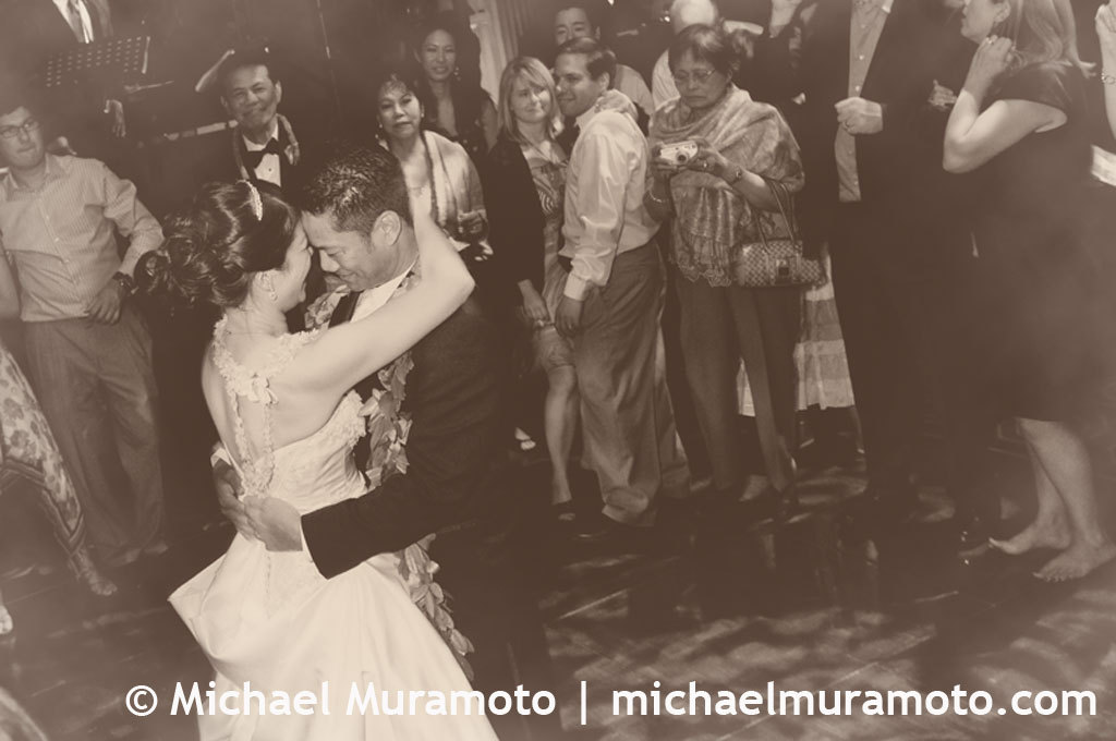 Bride, Groom, Dance, San francisco, Sepia, Michael muramoto photography, Julia morgan, Merchants exchange, Last dance