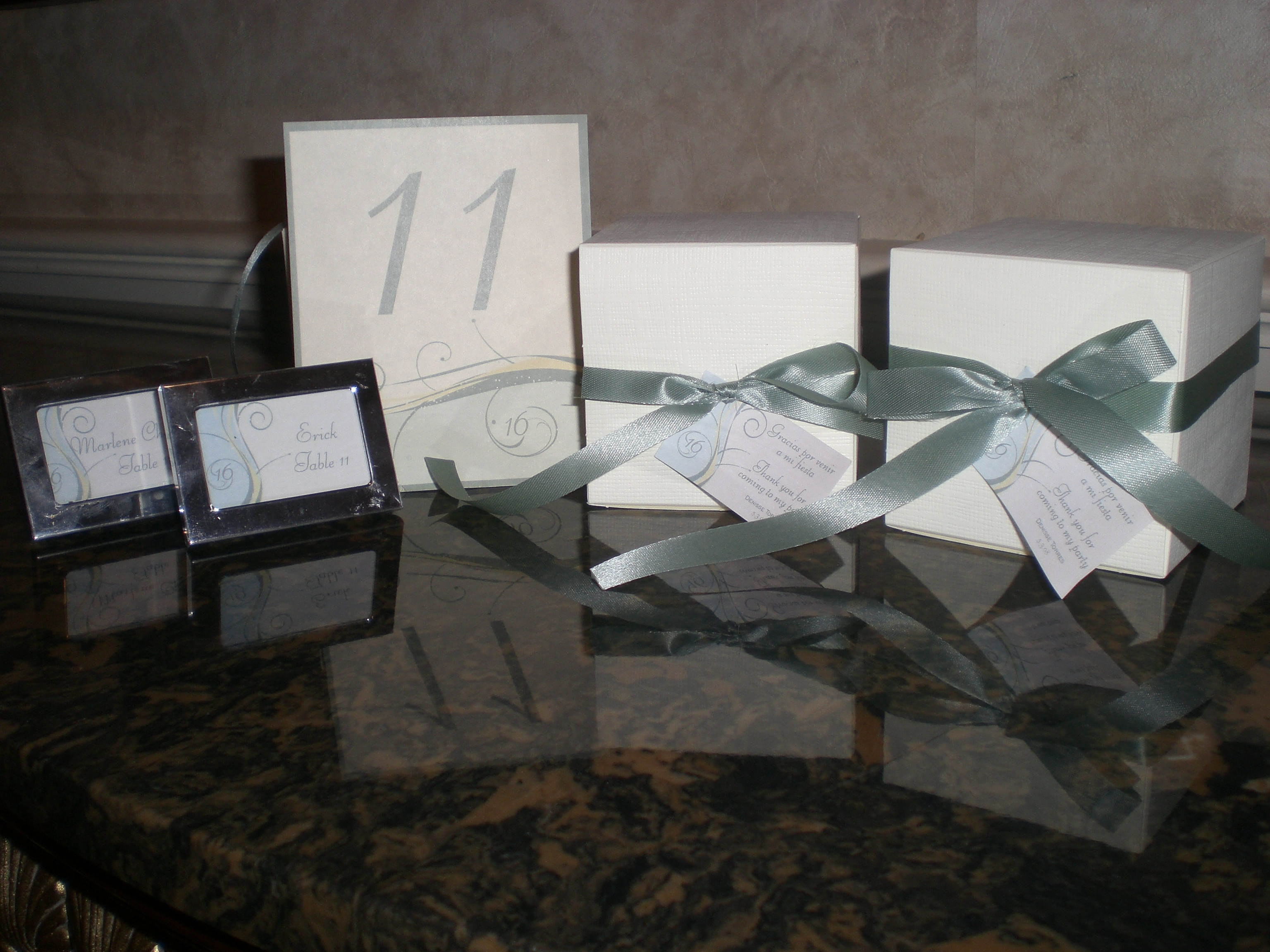 Favors & Gifts, Favors, Cards, Table, Number, Place, Sdezigns weddings
