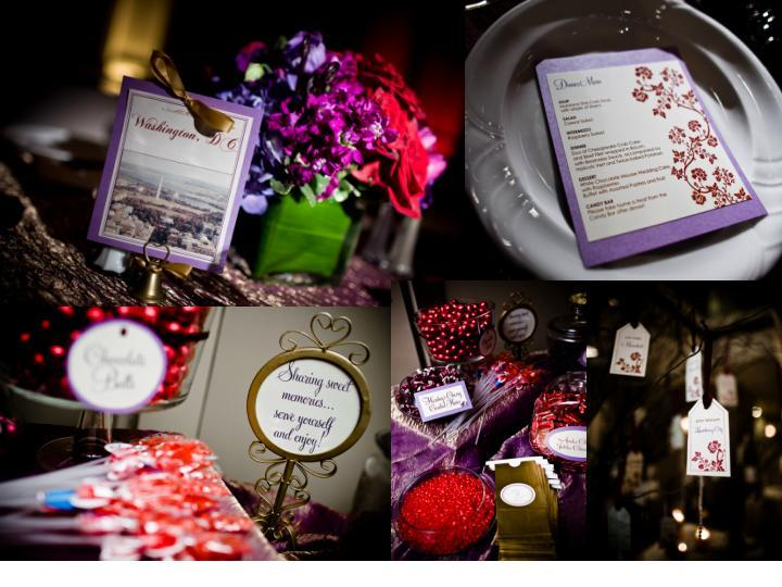 Flowers, red, Decor, purple, Centerpieces, Placecards, Menu, Hanging, candy bar, Dc, Table Names, Flowers & Decor, Stationery, Table Numbers, Place Cards