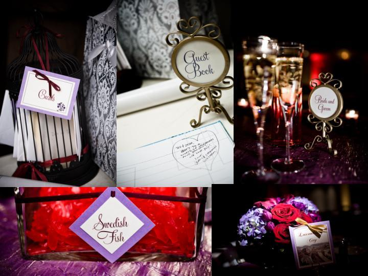 Reception, Flowers & Decor, Decor, red, purple, Centerpieces, Table Numbers, Flowers, Centerpiece, Cards, Sweetheart table, Dc, candy bar