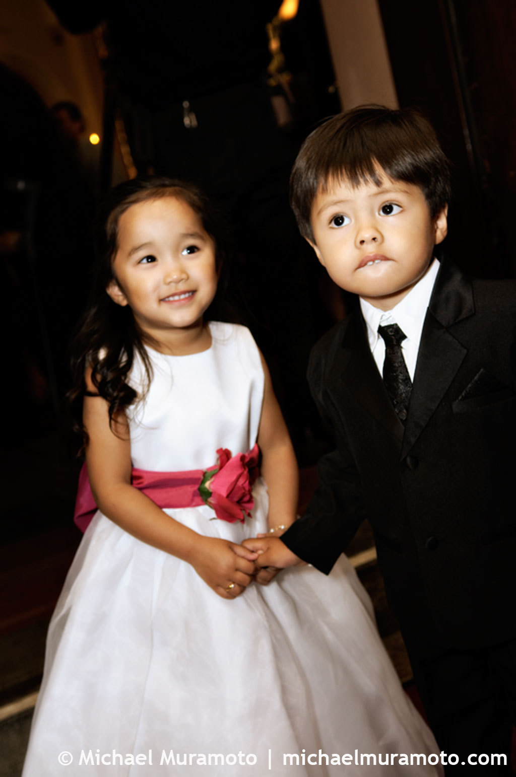 Flower girl, Ring bearer, Michael muramoto photography