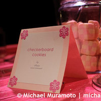 Stationery, pink, Food, Cookies, San francisco, Michael muramoto photography, Julia morgan, Merchants exchange