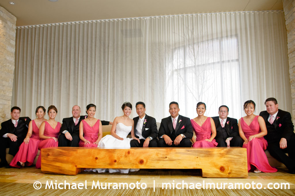 pink, Bride, Groom, Hotel, Bridal party, San francisco, Michael muramoto photography, Vitale