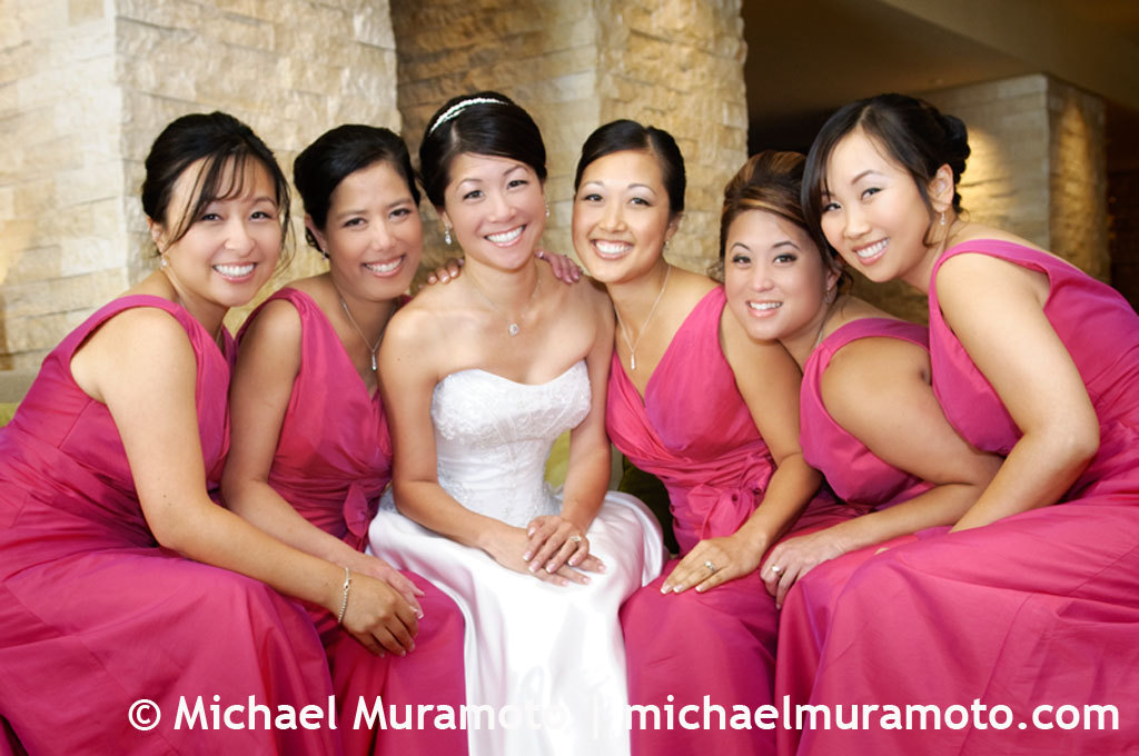 Bridesmaids, Bridesmaids Dresses, Fashion, pink, Bride, Hotel, San francisco, Michael muramoto photography, Vitale