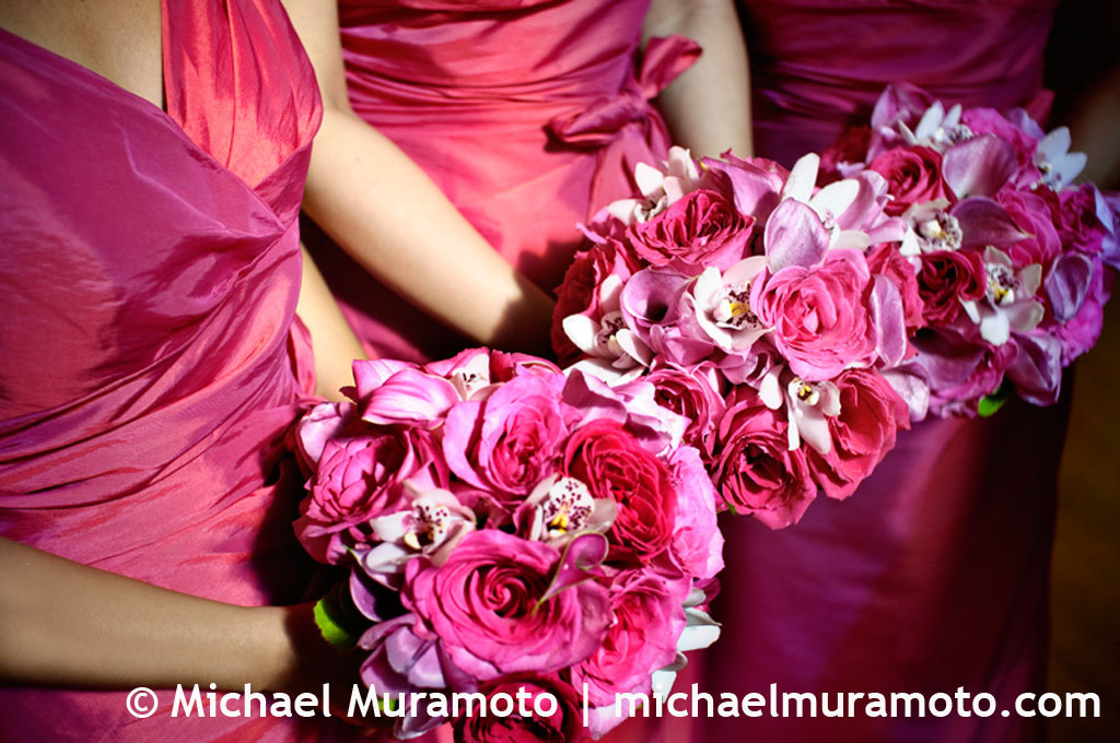 Flowers & Decor, Bridesmaids, Bridesmaids Dresses, Fashion, pink, Bridesmaid Bouquets, Flowers, Church, Bouquets, San francisco, Michael muramoto photography, Trinity episcopal, Flower Wedding Dresses