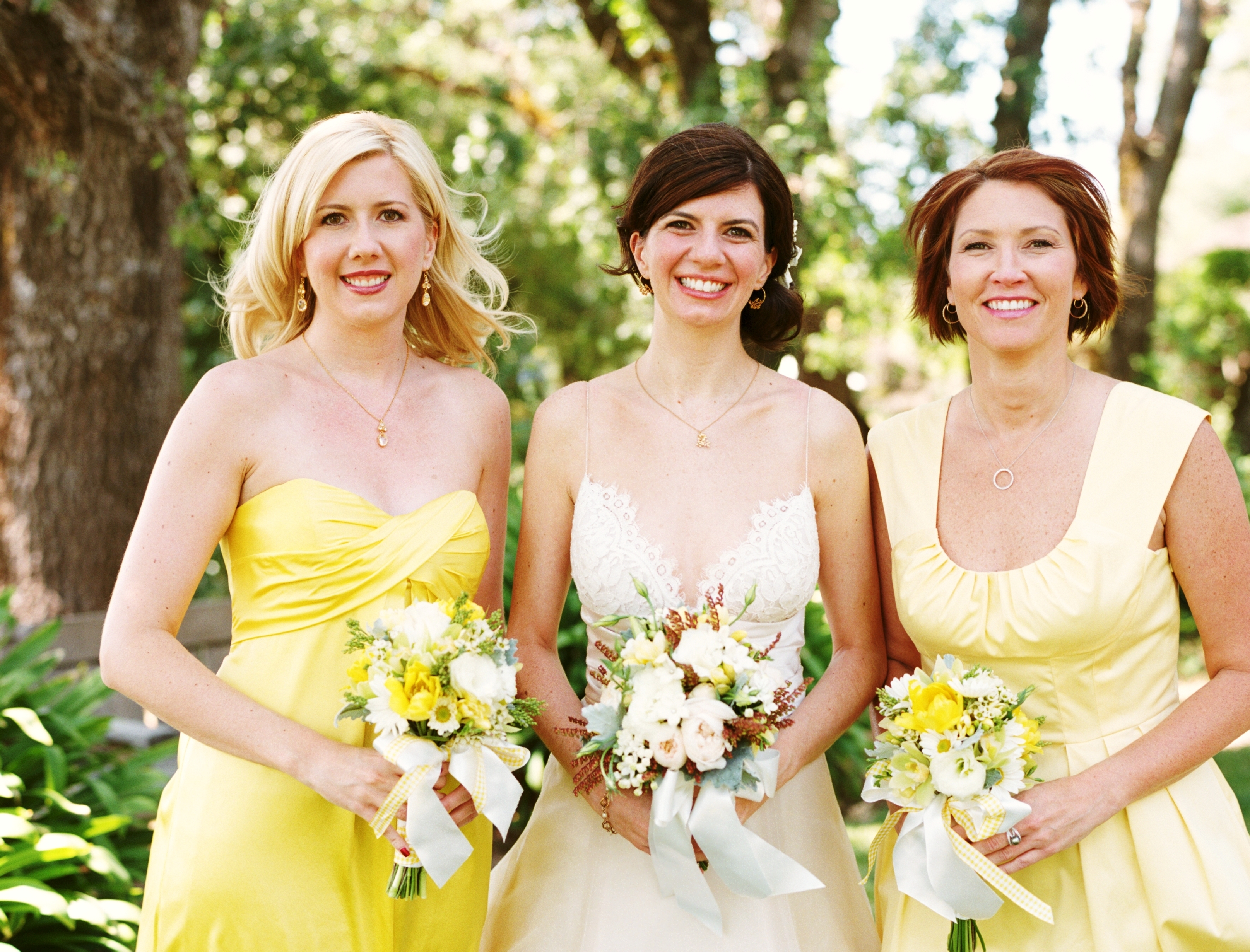 Bridesmaid Dresses, yellow, Wedding party, Wedding, Farm, Wedding attire