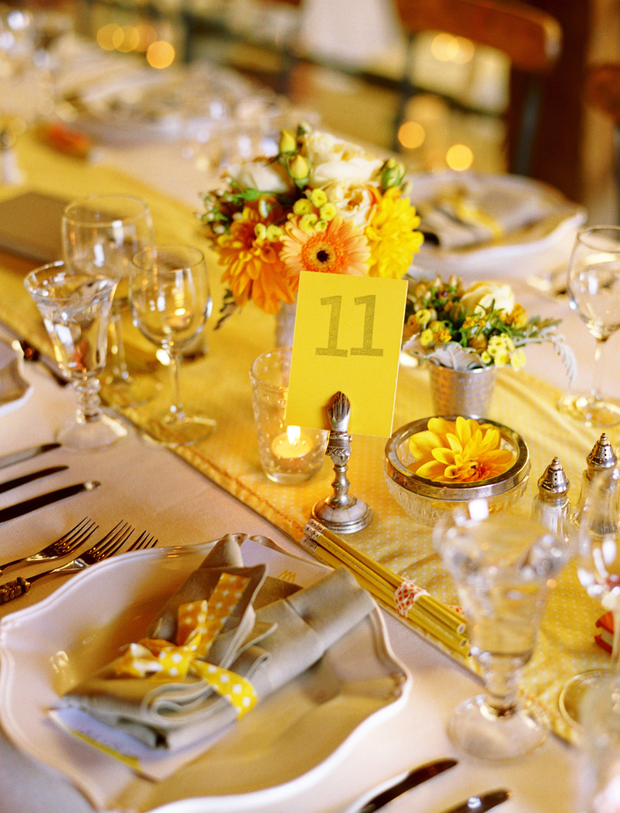 Reception, Flowers & Decor, Decor, Stationery, yellow, Table Numbers, Wedding, Table number, Farm