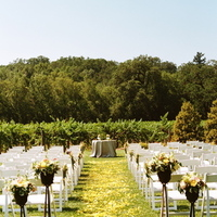 Ceremony, Flowers & Decor, Decor, yellow, Wedding, Farm, Rose petals, Sonoma valley