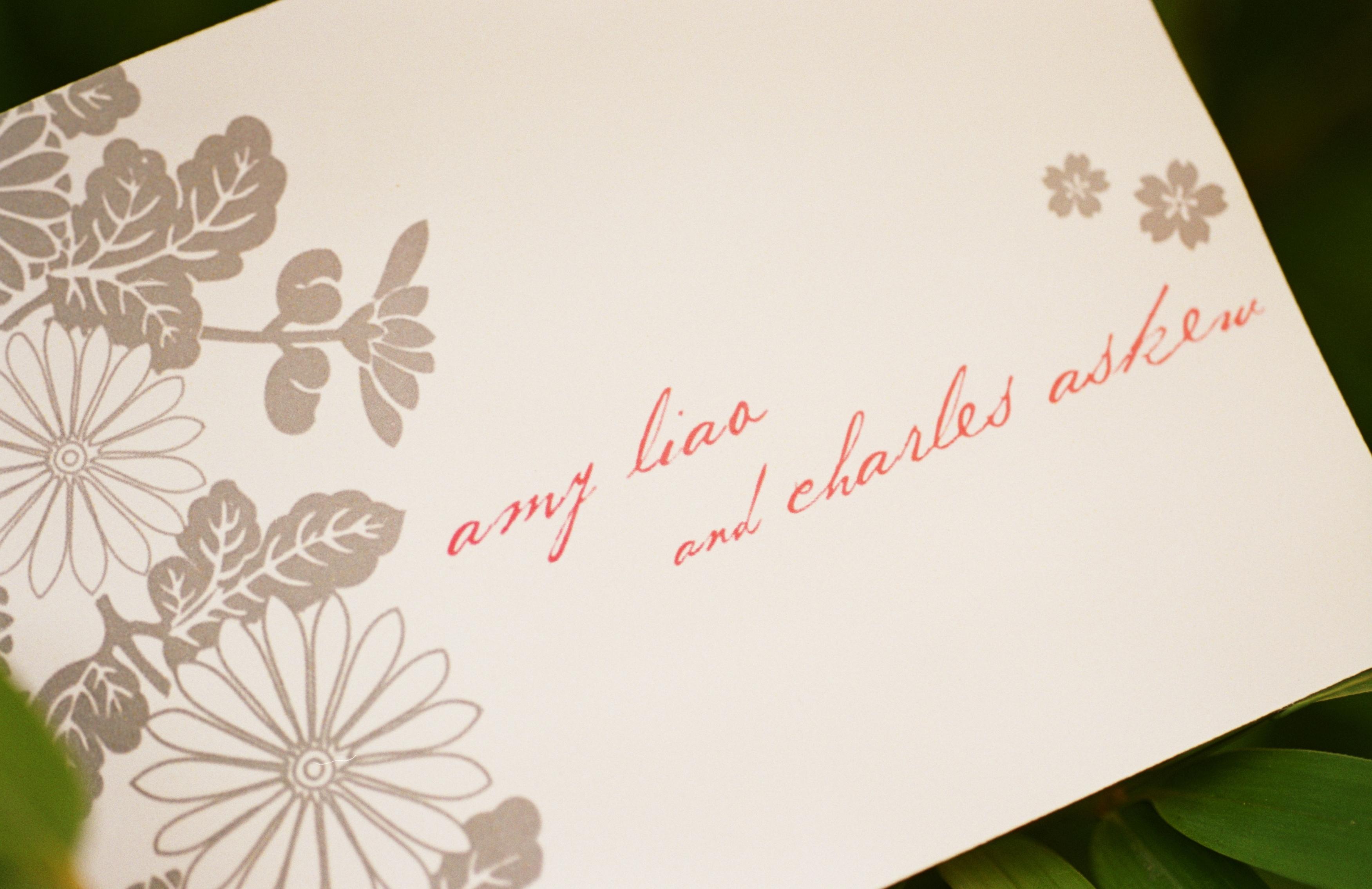 Flowers & Decor, Stationery, pink, Garden, Ceremony Programs, Programs, Wedding, Asian, Japanese, Paper goods