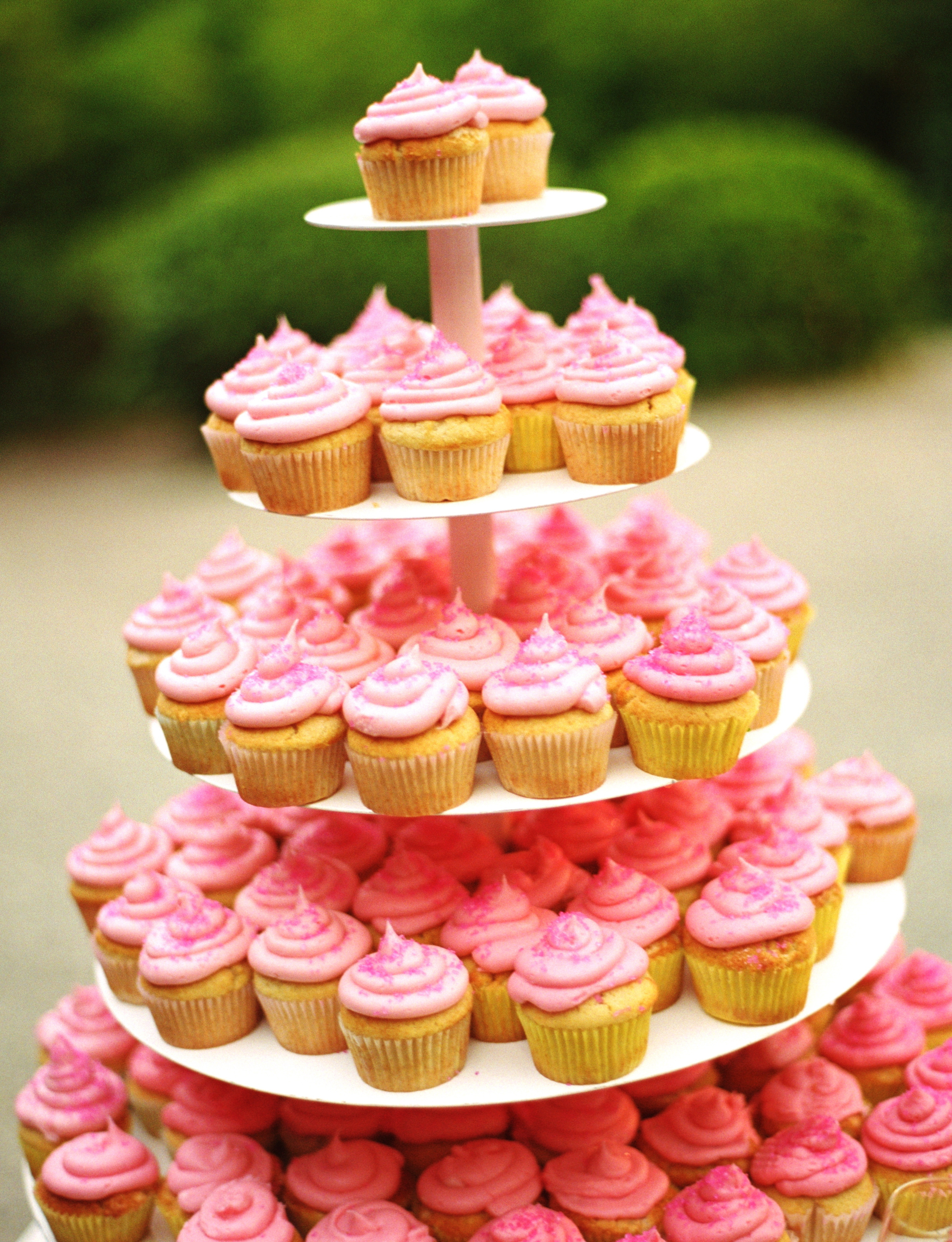 Reception, Flowers & Decor, pink, Garden, Cupcakes, Wedding, Asian, Japanese