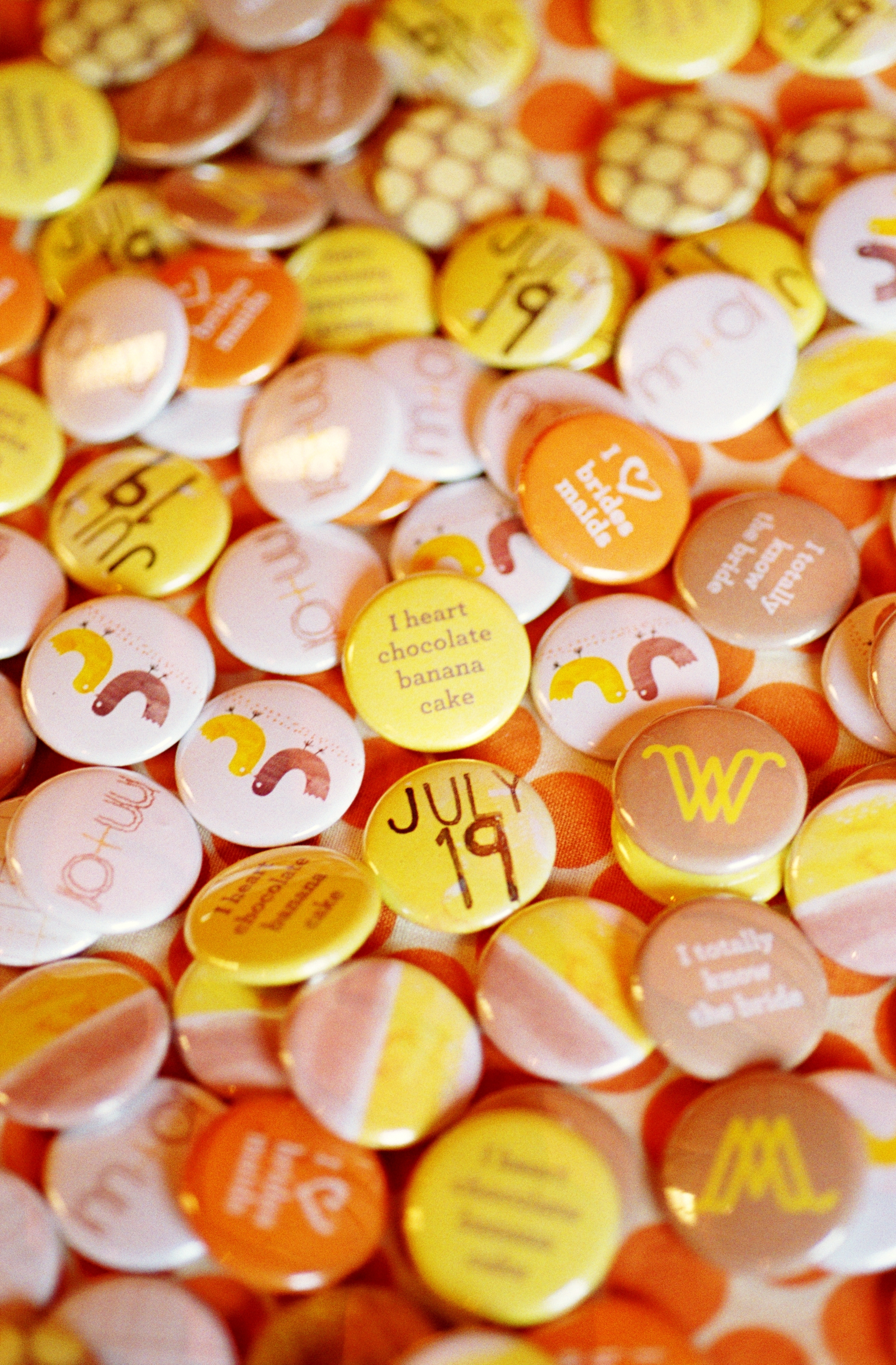 DIY, yellow, Wedding, Buttons, Farm